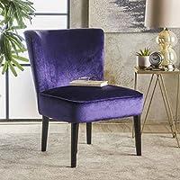 Petra Mid Century Plum New Velvet Club Chair