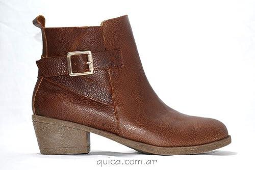 Quica Botas de Mujer Womens Boots Botineta Detalle Cruzado Habano Ascasubi Boots Botineta Detail Belt Buckle