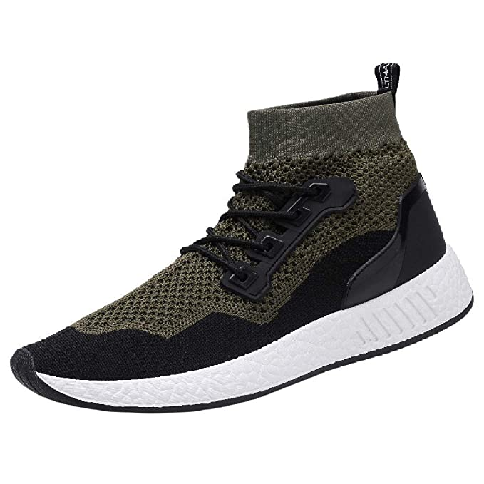 the best attitude 1c98f eb979 Amazon.com: Women High-Tops Flat Mesh Running Shoes Lace-Up ...