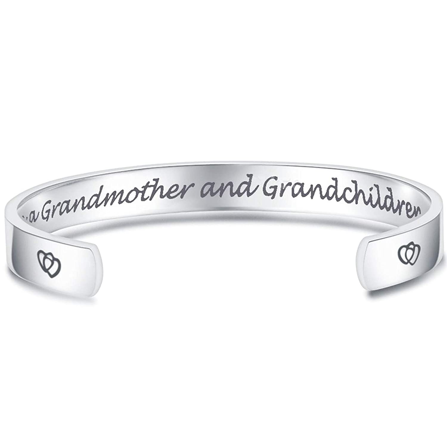 Jude Jewelers Love Between a Grandmother and Grandchildren is Forever Bracelet Bangle Birthday Gifts (Love Between a Grandmother and Grandchildren is Forever.) B0796BHGLB_US