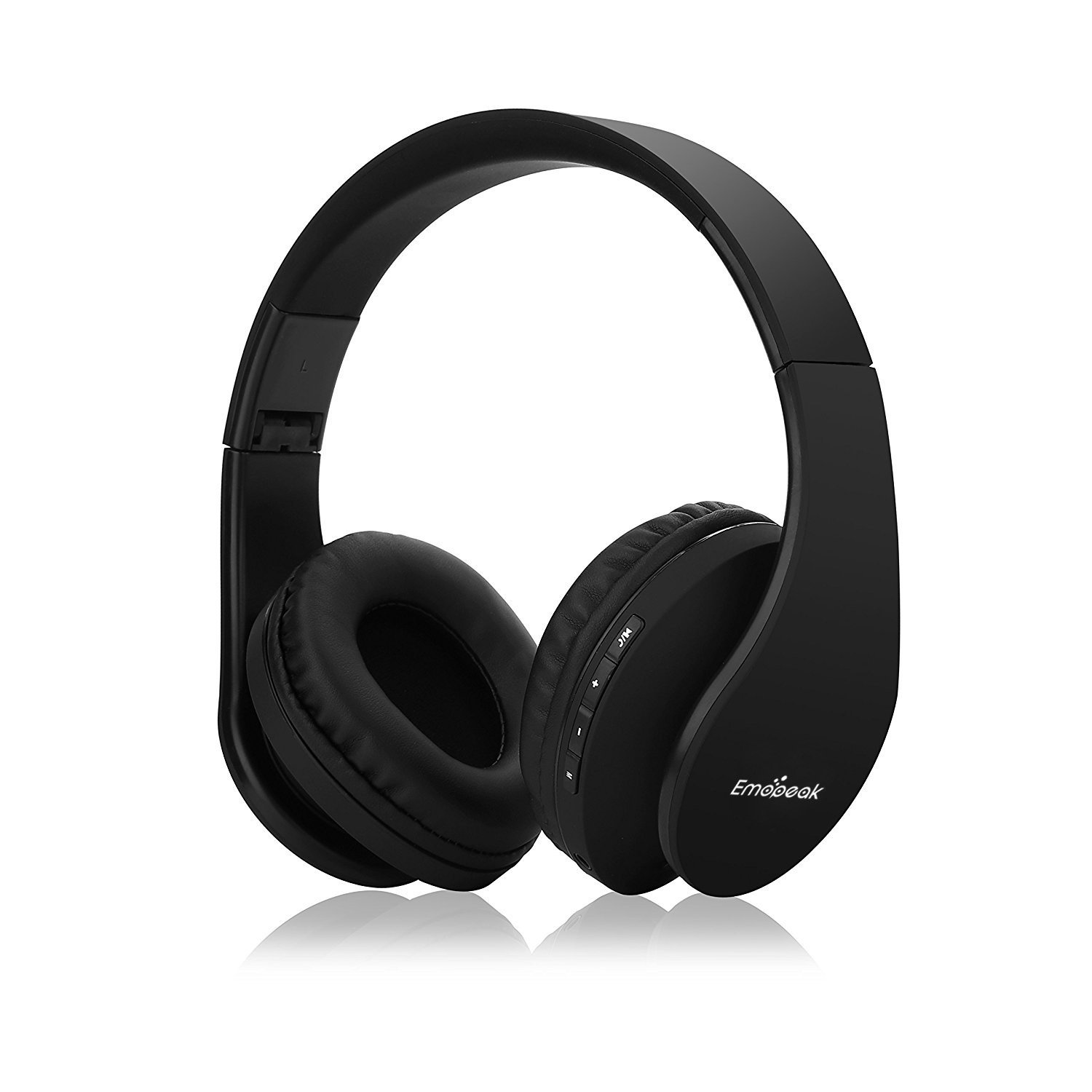 Bestipik Bluetooth Headphones Over Ear, Hi-Fi Stereo Wireless Headset, Foldable, Soft Memory-Protein Earmuffs
