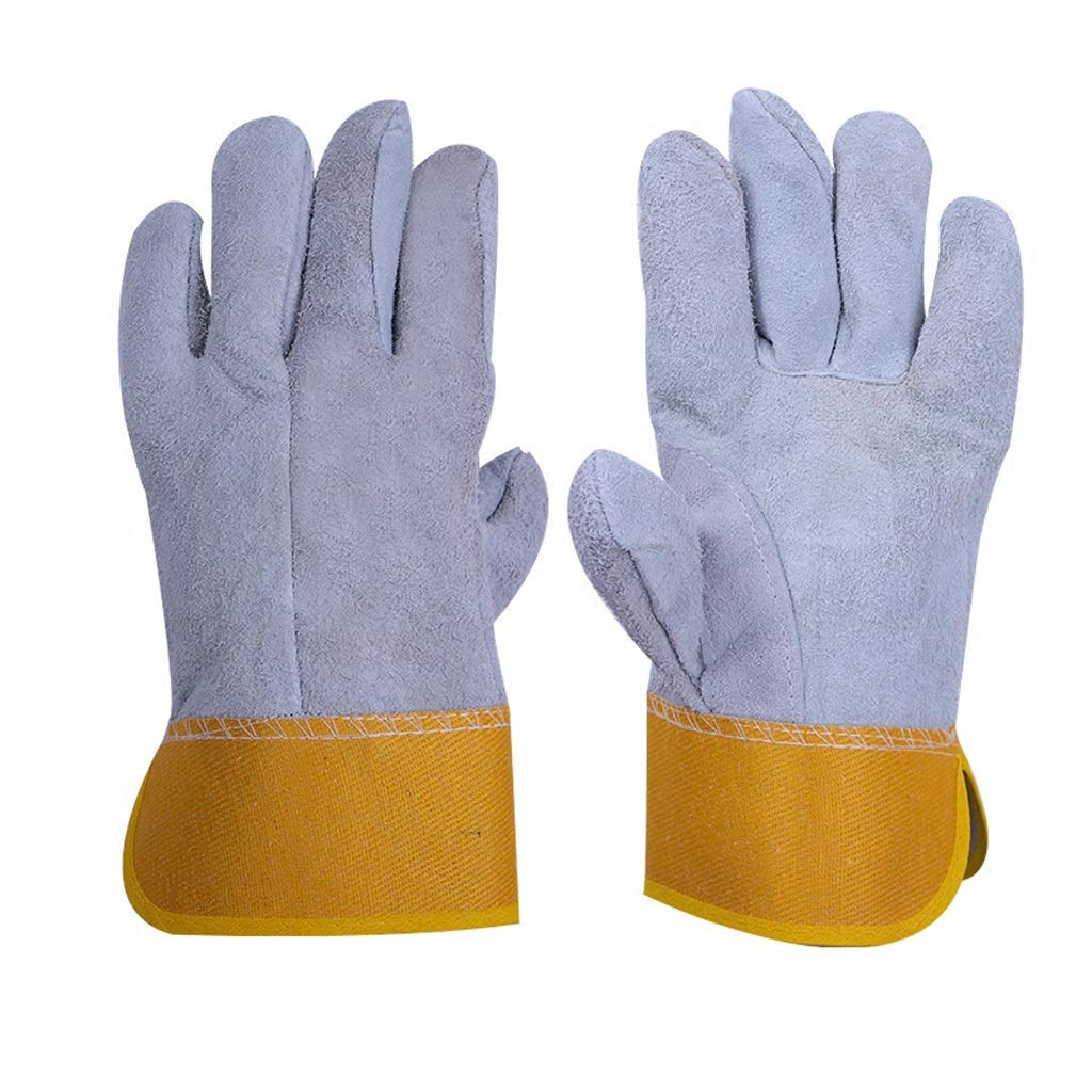 AINIYF Work Safety Protective Gloves, Welding Cowhide Gloves For Oven/Grill/Fireplace/Stove/Pot Holder/BBQ (Size : 12 pairs) by AINIYF (Image #3)