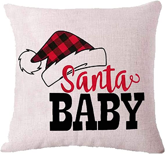Amazon Com Zych Red Christmas Snowflake Baby It S Cold Outside Bah Humbug Cotton Linen Square Throw Pillow Case Cushion Cover 18 X 18 Throw Pillow Covers 7 Home Kitchen