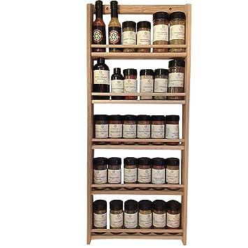 Wooden Spice Rack Wall Mount Gorgeous Amazon EmejiaSales Oak Spice Rack Wall Mount Organizer 60Shelf