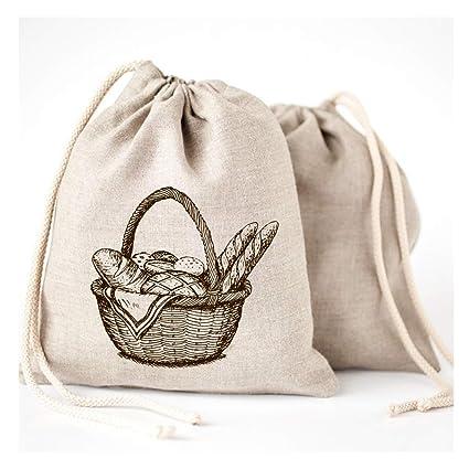 Bolsas de pan de lino - 3 unidades 11 x 15 Speical Art ...