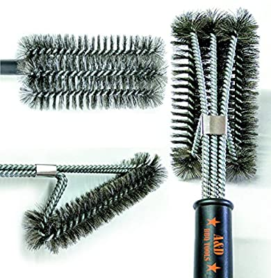 "Grill Brush, 3 in 1 18"" Best BBQ Grill Brush, Stainless Steel grill cleaning brush, Great Cleaner & Scraper for Grill Cooking Grates, Racks, & Burners"