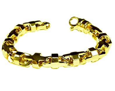 73e28572d26a7 TEX 14k Solid Yellow Gold Anchor Mariner Link Chain Bracelet 10.5 MM 80  grams 8.5