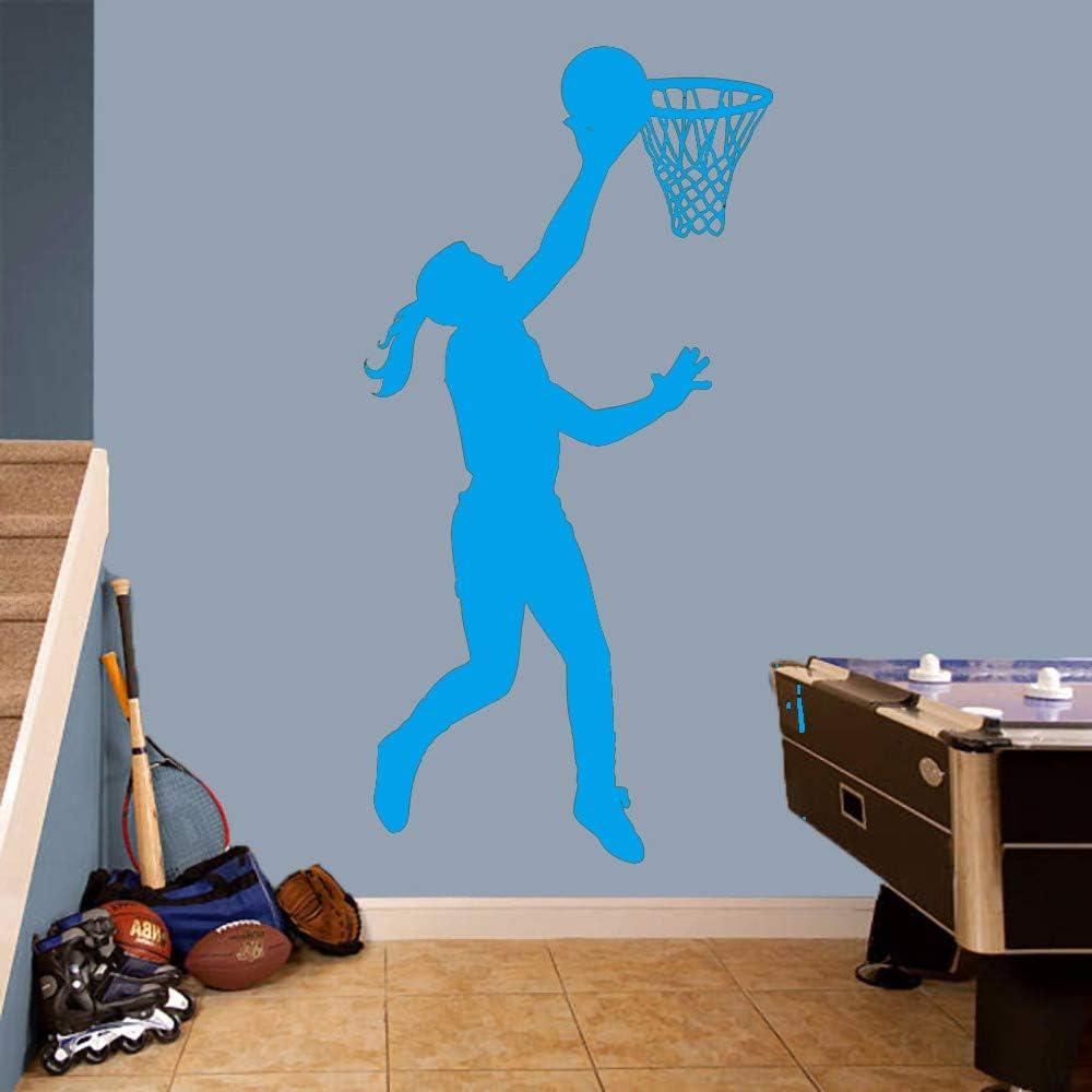 Jugador de baloncesto Chica Layup - Sports Room Nursery Kids Room 57 * 119cm: Amazon.es: Bricolaje y herramientas