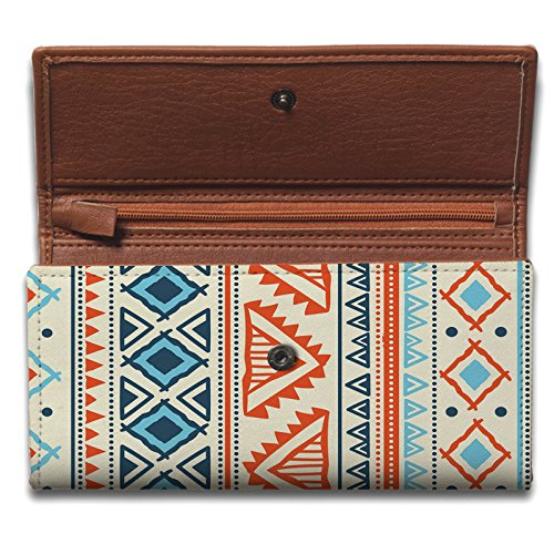 ShopMantra Vector Tribal Ethnic Pattern Ladies Wallet