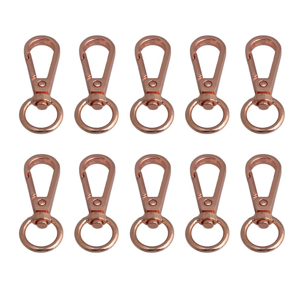 BQLZR Rose Gold Swivel Schnallen Lanyard Karabinerhaken Karabinerverschluss f¨ ¹ r Keychain Ring Tasche Handwerk DIY 10er Pack M4180402121
