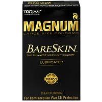 TROJAN Magnum Bareskin Lubricated Large Size Condoms 10 ea