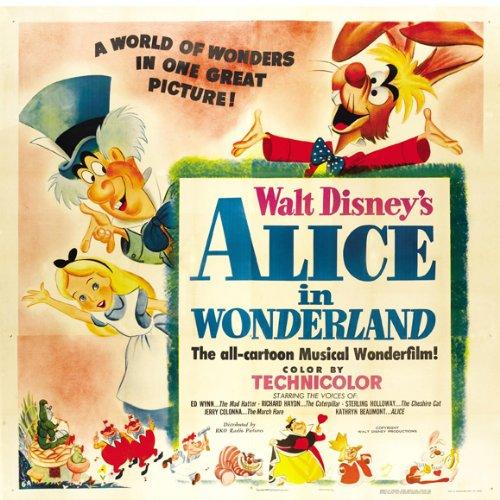 Alice in Wonderland Movie Poster (30 x 30 Inches - 77cm x 77cm) (1951) -(Kathryn Beaumont)(Ed Wynn)(Richard Haydn)(Sterling Holloway)