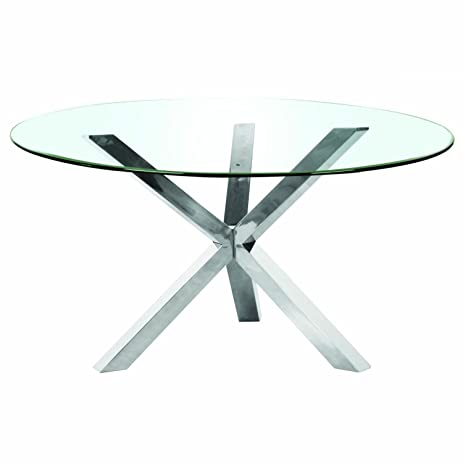 Mantis Round Dining Table Base, Stainless Steel