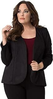 product image for Kiyonna Women's Plus Size Mackenzie Faux Suede Blazer