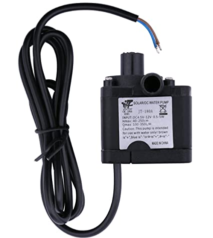Yeeco DC 3 5-12V 6V 9V 12V Water Pump Electric Brushless Micro Water-Cooled  Ultra Quiet Submersible Pumping for Aquarium Fish Fountain Garden House