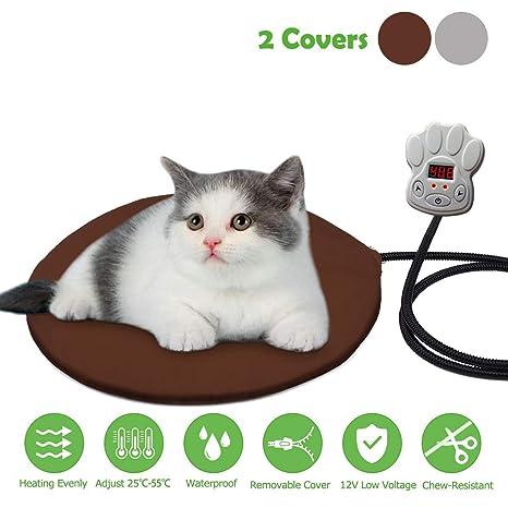 Cojín de Calefacción para Mascotas FOCHEA 15W Manta Eléctrica para Perros y Gatos con 7 Niveles