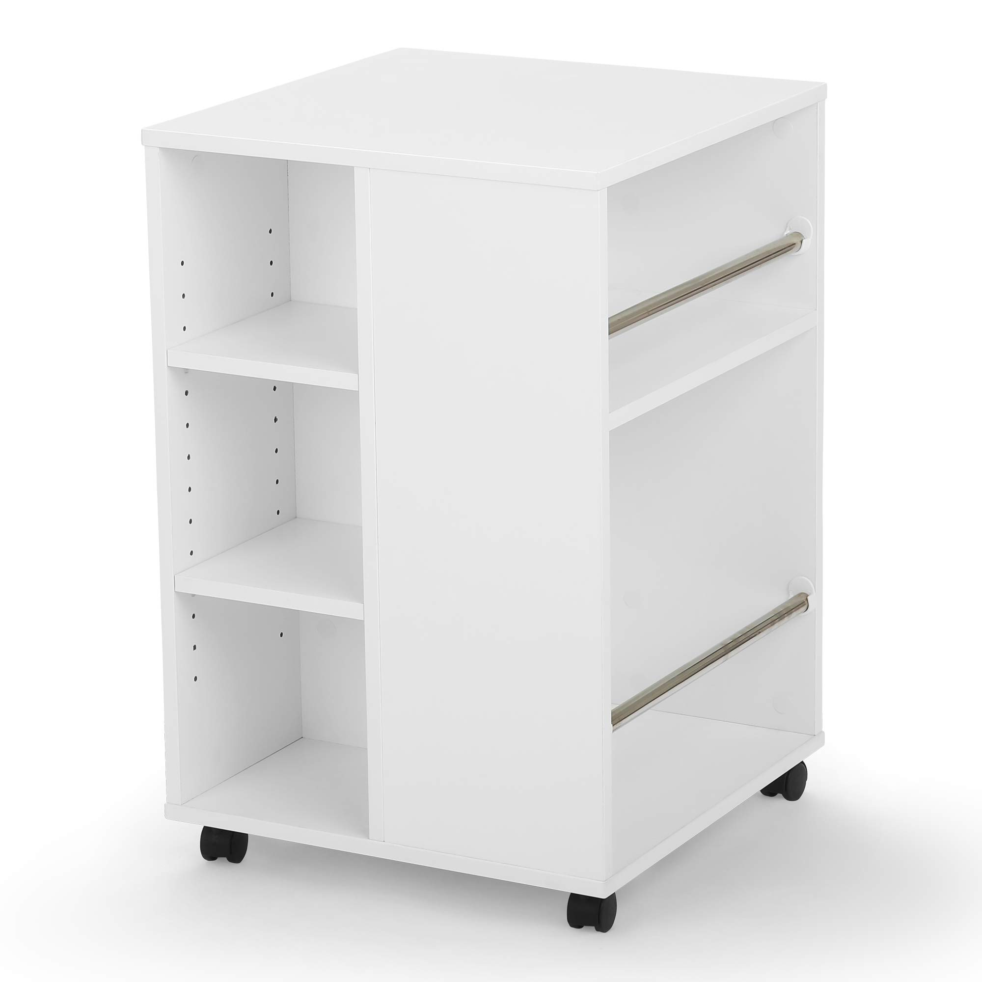 Arrow 81100 Portable 4 Sided Thread, Ribbon and Craft Storage Organization Cube, White Finish by Arrow Sewing Cabinets