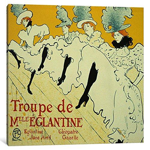 iCanvasART 1 Piece La Troupe De Mlle. Eglantine Canvas Print by Henri de Toulouse-Lautrec, 1.5 by 18 by 18-Inch ()