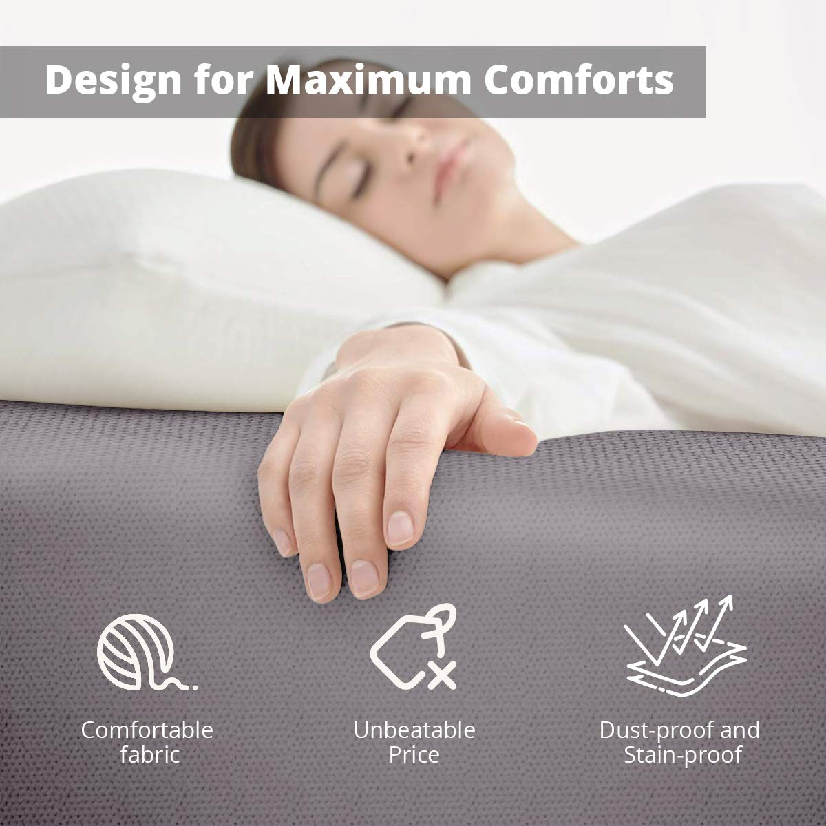 SPACE INNOVATIONS Mattress Cover Sheet for Ottoman Sleeper Bed, Lightweight Ottoman Fitted Mattress Protector, 15\