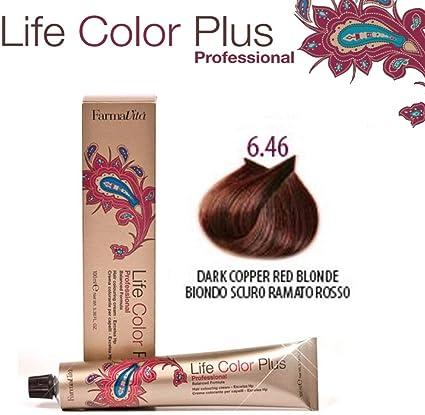 Farmavita Life Color Plus Tinte Capilar 6.46-100 ml: Amazon ...