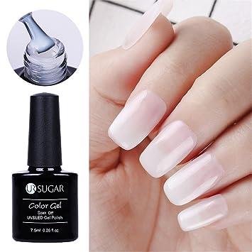 CoulorButtons 1 Bottle 5ml UR SUGAR White Opal Jelly Gel Semi-transparent  Soak Off Nail Art UV Gel Polish