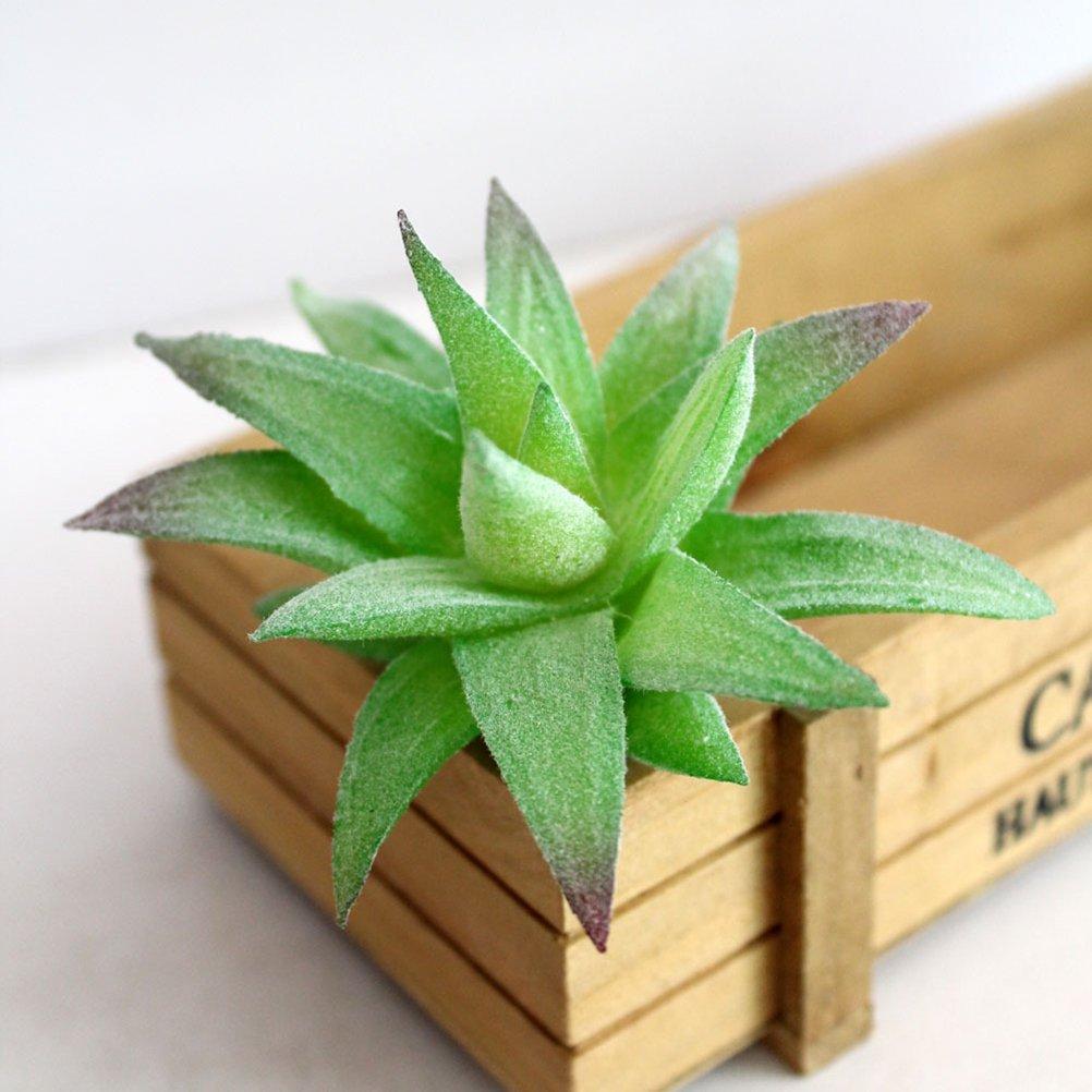 WINOMO Mini plante verte artificielle plantes succulentes faux cactus plantes pour bureau maison d/écoration de jardin d/écoration 5 PCS
