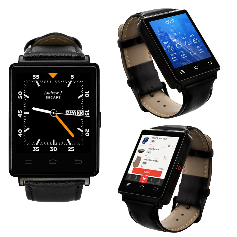 Indigi Sleek Android 5.1 3G Unlocked AT&T TMobile SmartWatch Phone + WiFi + GPS + Heart Rate