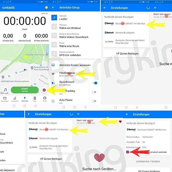 BerryKing Heartbeat Bluetooth & ANT+ HRM para Garmin Polar Wahoo ...