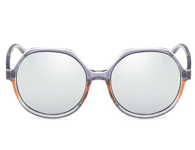 Bmeigo Gafas de sol Polarizadas para Hombre Mujer Lentes Diseño de Moda Vintage UV400 Marco de