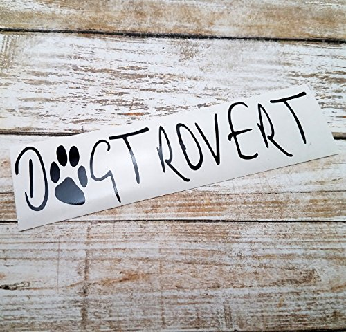 [Dogtrovert Decal Sticker for Dog Lovers for use on Truck Laptop Car YETI RTIC Tumbler] (Best Internet Meme Costumes)