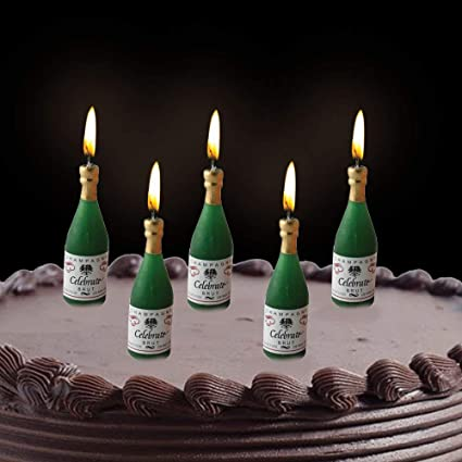 Buy PARTY PROPZ BIRTHDAY CHAMPAGNE CANDLE ANNIVERSARY DECORATION Online At Low Prices In India