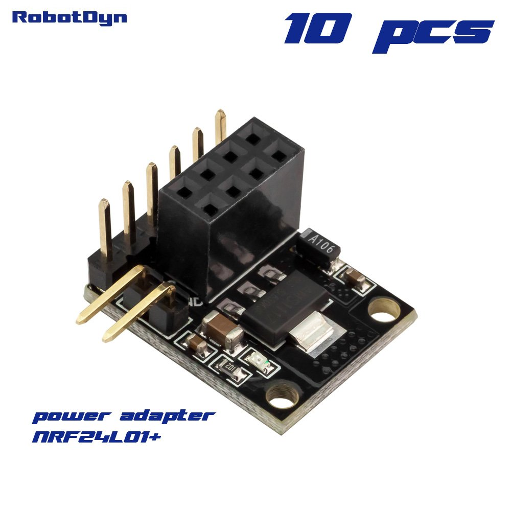 RobotDyn - 10 PCS - NRF24L01+ power adapter, with regulator 3.3V. Compact size.