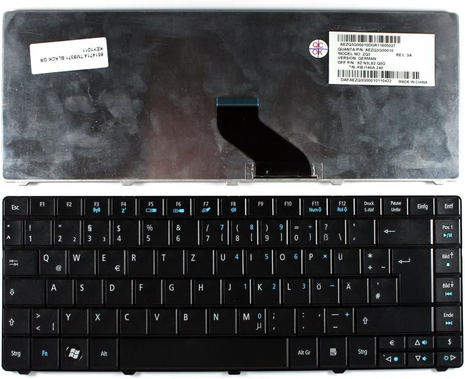 Keyboards4Laptops German Layout Black Laptop Keyboard For Acer TravelMate 8371-354G50N, Acer TravelMate 8371-6306, Acer TravelMate 8371-6457, Acer TravelMate 8371-732G25N, Acer TravelMate 8371-732G32n