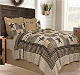 Black and Tan Comforter Sets King Appalachian Star 3 Piece Queen Quilt Set