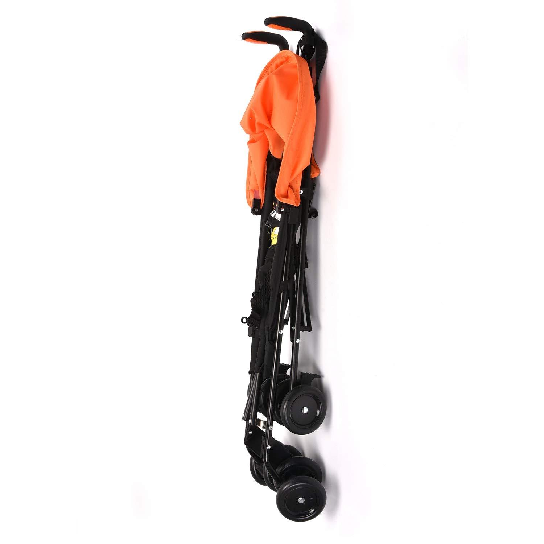 Wonder buggy Lightweight Baby Jumbo Umbrella Stroller with Rounded Hood (Orange) by Wonder buggy (Image #9)