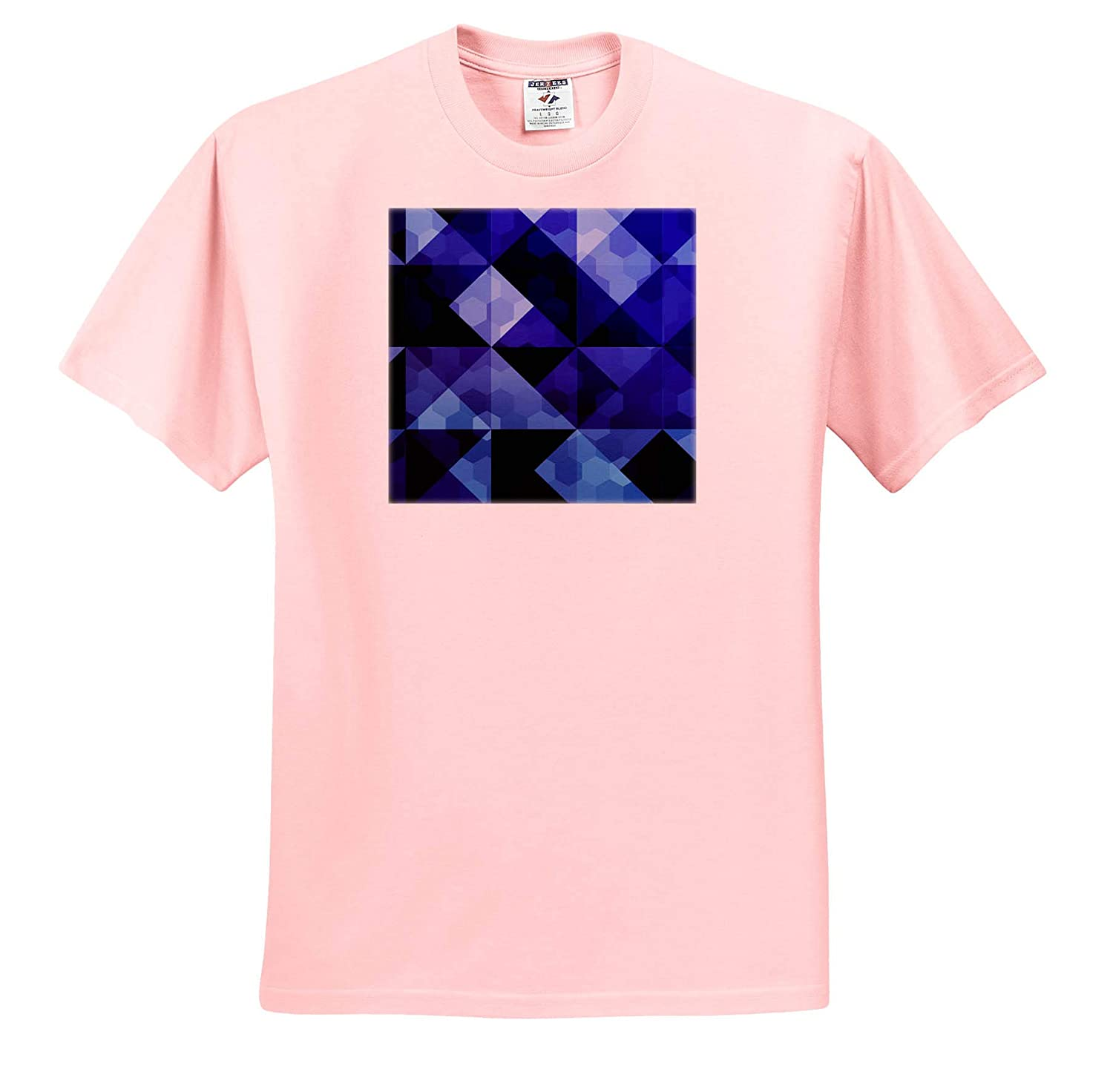 3dRose Sven Herkenrath Art Art of Mosaic Design in Blue and Dark Colors Style Gift T-Shirts