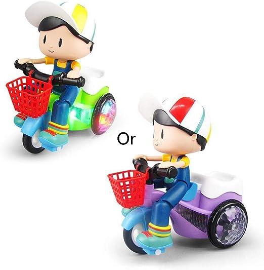 Xiuinserty Coches de juguete eléctrico para niños, juguetes de 360 ...