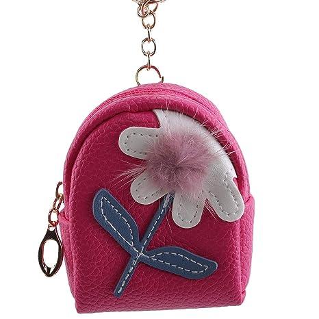Pinhan - Monedero con diseño de Flores, Color Caramelo ...