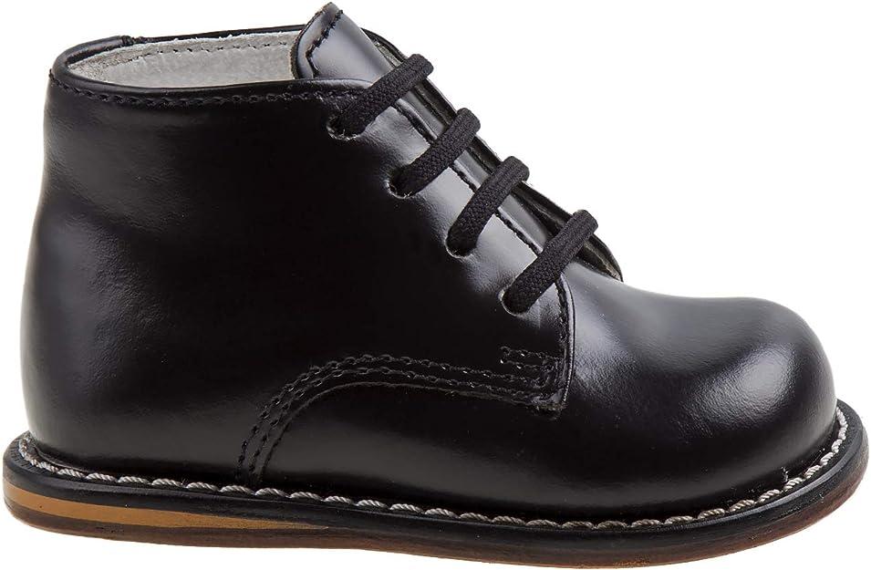 JOSMO Unisex Toddlers Pebbled-Leather Walking Shoe BlackPebble 4.5 M US Infant