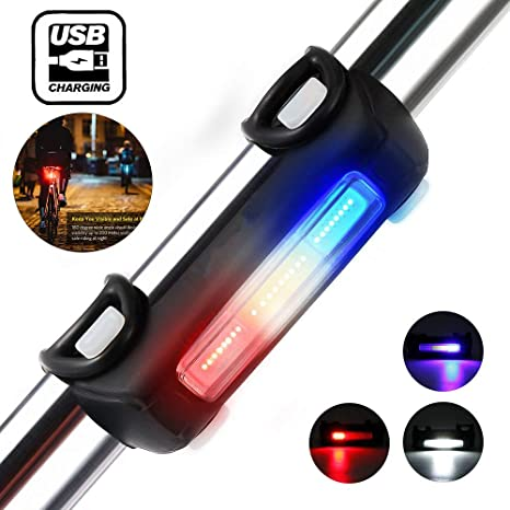 USB Luces De La Bicicleta Fuego Iluminación Trasera De La ...
