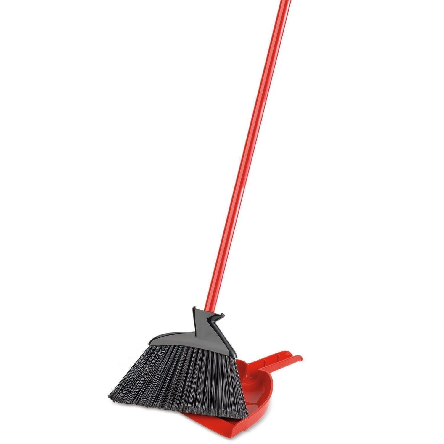 Libman Precision Angle Broom with Dustpan Dustpan, Dustpan Snaps On Broom Handles For Easy Storage... H&PC-80354