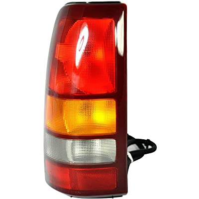 Tail Light Lamp For 1999-2002 CHEVY SILVERADO 1500 and 1999-2002 GMC SIERRA 1500 - Includes Bulb: Automotive