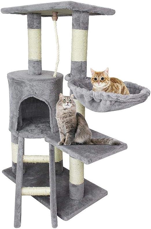 Todeco - Árbol para Gatos, Escalador para Gatos - Material: MDF ...