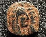 NABATAEA Aretas IV with Shaqilat %28wife