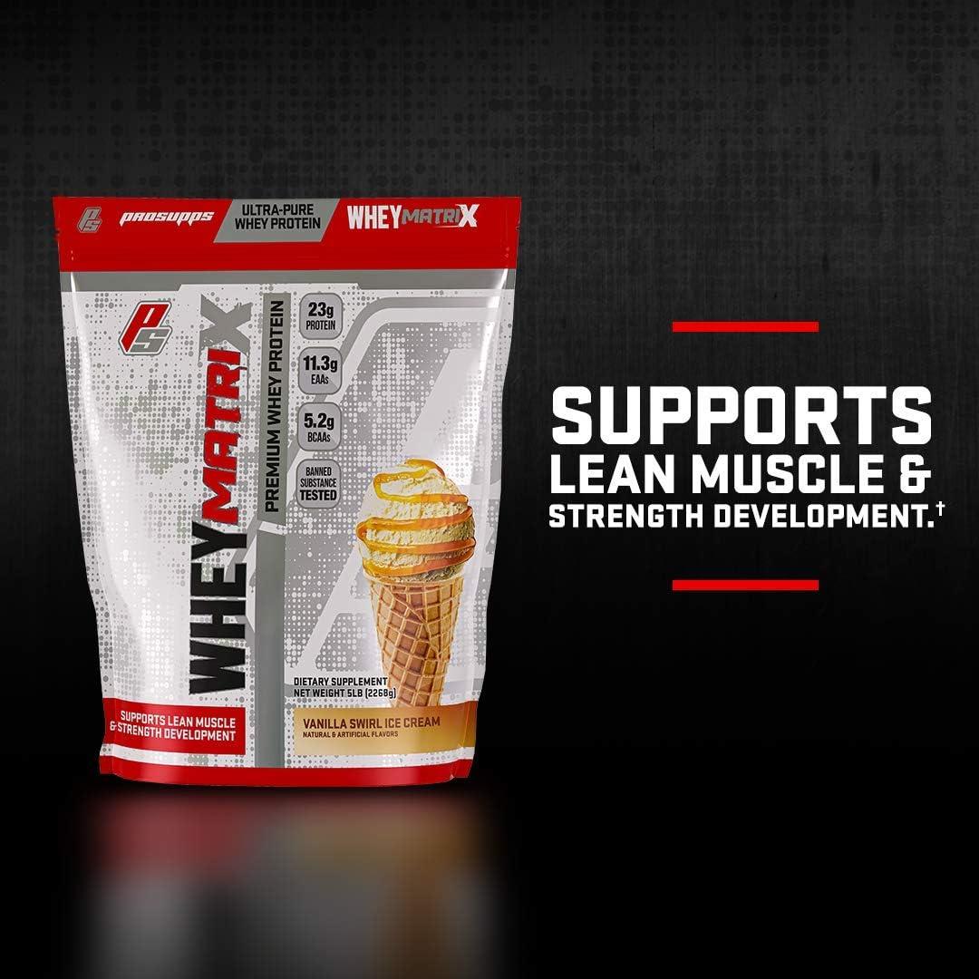 Amazon.com: ProSupps® Whey Matrix Ultra-Pure Premium Whey Protein, 23g Protein, 5 pounds (Vanilla Swirl Ice Cream): Health & Personal Care