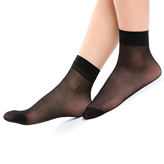 580a07d2595 Image Unavailable. Image not available for. Color  NEW 12 Pairs Ann Diane  Women s Lady s Ankle High Hosiery Sock Sheer Wire Socks ...