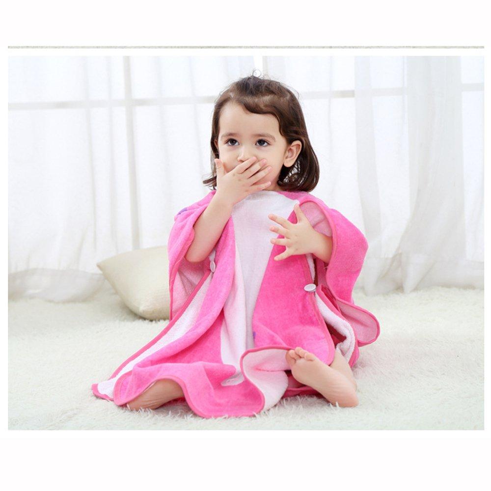 ele ELEOPTION Poncho de Serviette de Plage /à Capuchon pour Enfants l/ég/ère Rose id/éale pour Les Filles de 1 /à 7 Ans Serviette de Bain en Microfibre Serviette de Bain pour Enfants