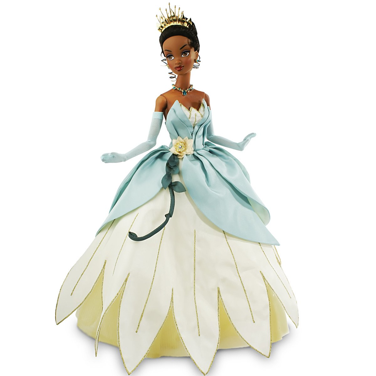 Amazon.com: Princess Tiana Bayou Wedding Dress Articulated Doll by ...