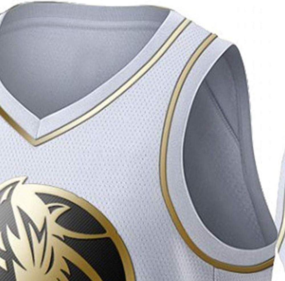 GUAN Maverick Doncic Basketball Jersey Sommer Sweatshirt 77 Platin gestickte Jersey T-Shirt,S
