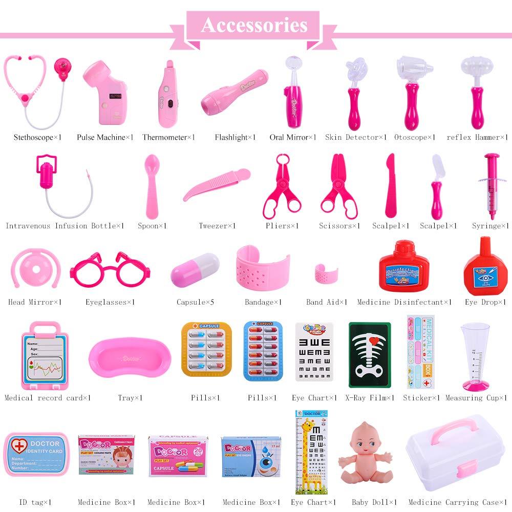 Amazon.com: TEMI Doctor Kit médico, juego de 40 piezas de ...